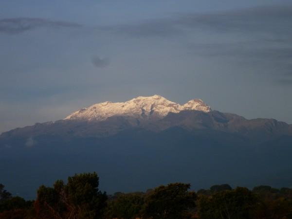 Los volcanes desde Puebla