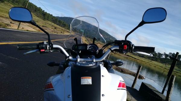 Una de las mejores vistas arriba de una moto