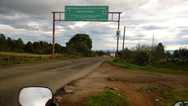 Llegando a Huasca de Ocampo, Hidalgo.