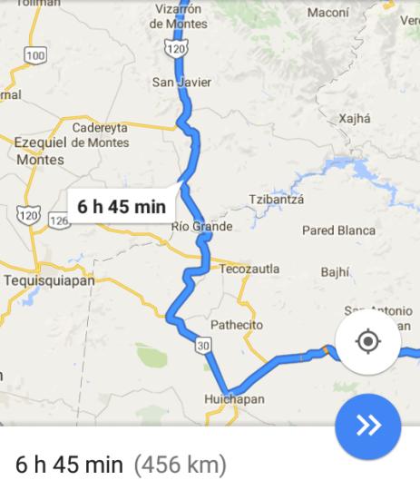 Así lo marco google maps